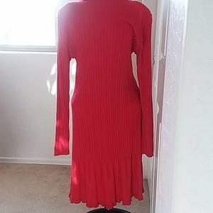 COLDWATER CREEK LONG SLEEVE  FLARED HEMLINE DRESS